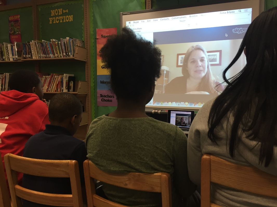 students skyping